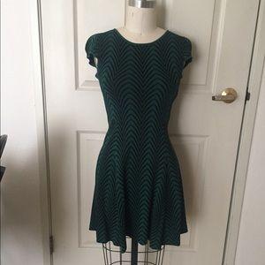 Catherine Catherine Malandrino Green & Black Dress